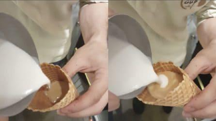 """Versa il latte nel cono e prepara una bontà """"alternativa"""" per il palato"""
