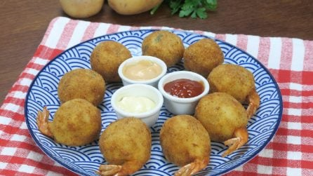 Potato and shrimp balls: you will love this recipe!