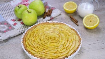 Crostata di rose di mele: il dolce autunnale delicato e fragrante!