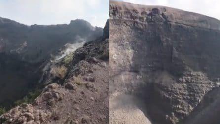 """Napoli, all'interno della """"bocca"""" del Vesuvio: uno scenario naturale incantevole"""