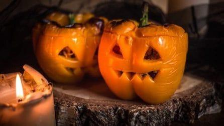 Pumpkin peppers: a tasty halloween idea!