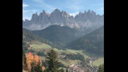 Bolzano, spettacolo tra le montagne: il panorama mozzafiato della Val di Funes