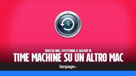 Fare il backup di Time Machine su un altro Mac