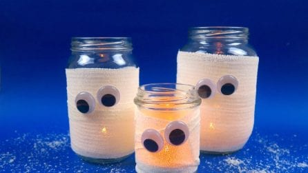 How to make ghost jars for Halloween