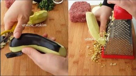 Grattugia le melanzane e prepara una ricetta gustosa per grandi e piccini