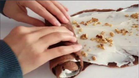 Arrotola le crepes farcite: un dessert veloce e gustoso
