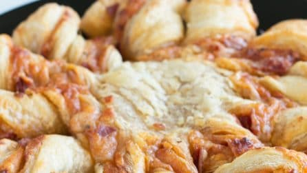 Pepperoni Pizza Puff Pastry Twists