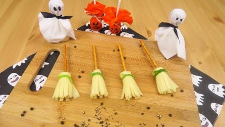Witches' brooms: a fun and unique appetizer!