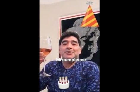 """""""Buon compleanno Maradona"""": El Pibe de Oro ringrazia i fan ..."""