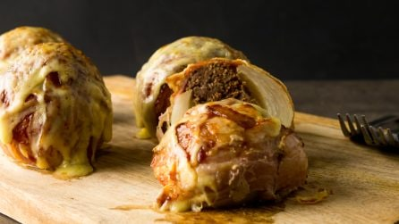 Bacon Wrapped BBQ Onions
