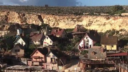 Il villaggio di Braccio di Ferro a Malta: la splendida vista dall'alto