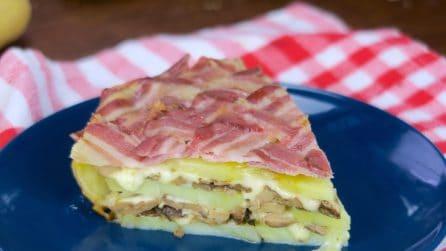 Torta di patate con bacon: perfetta per una cena piena di sapore!