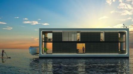 Una casa galleggiante unica al mondo: sopporta anche un uragano
