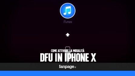 Ripristinare iPhone X con la modalità DFU
