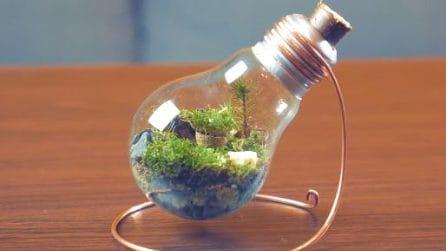 Come costruire un terrario in una lampadina