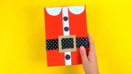 Come realizzare un pacco a forma di Babbo Natale