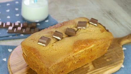 Plumcake con barrette di cioccolato: l'idea super golosa da provare!