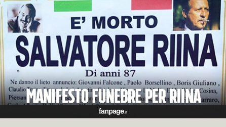 """Morto Totò Riina, manifesto funebre ne dà il """"lieto annuncio"""" a Ercolano"""