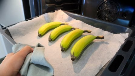 Place the bananas in the oven: try this genius trick