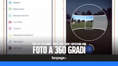 Trucchi Facebook: Pubblicare foto a 360 gradi e impostarle come copertina