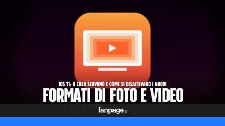 Con iOS 11 foto e video vengono salvati con nuovi formati: a cosa servono e come disattivarli