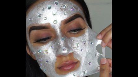 Applica una maschera piena di cristalli: il trattamento di bellezza alternativo