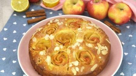 Torta di mele con rose: ecco come renderla ancora più bella e buona!
