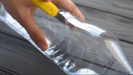 Divide a metà la bottiglia di plastica: un metodo ingegnoso per riciclarla