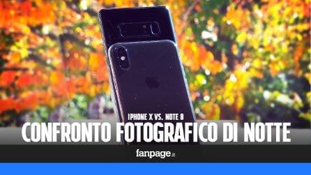 iPhone X e Note 8: confronto fotografico di notte