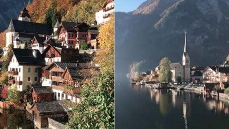 """Un villaggio """"fatato"""" nascosto tra montagna e lago: le immagini di Hallstatt"""