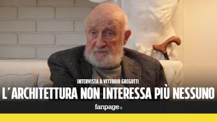 """Vittorio Gregotti: """"L'architettura come io la intendo oggi non esiste più"""""""