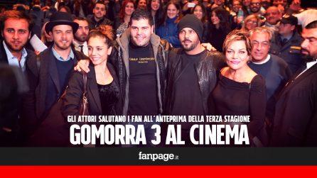 Il grande successo di Gomorra 3 al cinema: gli attori incontrano i fan a Napoli