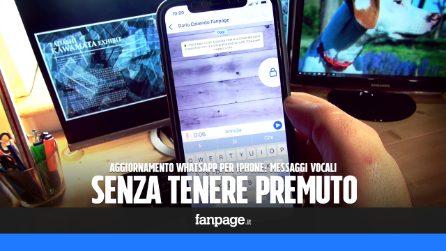 Con il nuovo WhatsApp puoi mandare i messaggi vocali senza premere il tasto