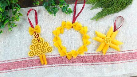 Come realizzare delle decorazioni natalizie con la pasta