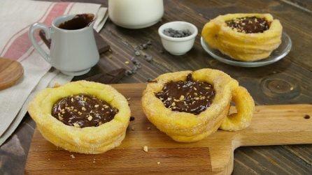 Cestini di churros: il modo super goloso per servire la cioccolata calda!