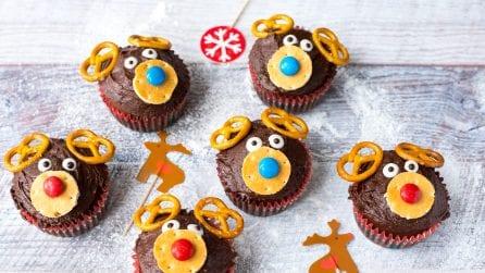 Muffin a forma di renna: l'idea originale per Natale!