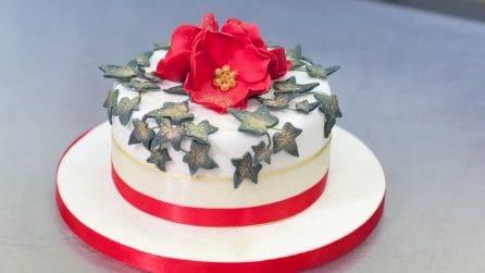 Cake Design per Natale, la torta fatta con la pasta di zucchero