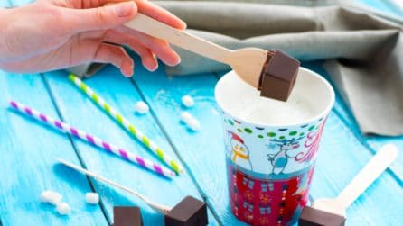 Hot chocolate on stick: a special gift for christmas!