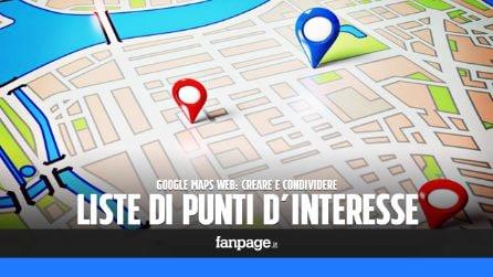 Con Google Maps puoi creare e condividere liste e itinerari utilizzando anche un computer