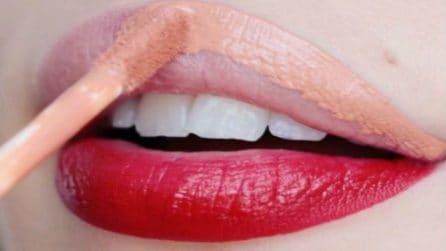 Due differenti colori sulle labbra: il risultato è stupendo