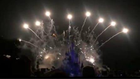 La magia dei fuochi d'artificio a Disneyland Paris