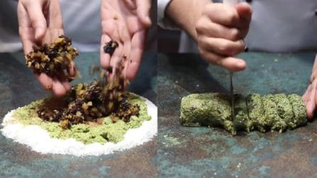 Mix di frutta nella polvere di pistacchio: prepara delle speciali polpette