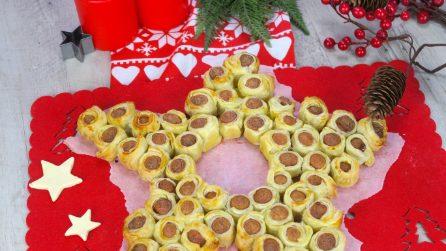 Stella di Natale con i würstel: l'idea per un aperitivo originale!