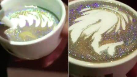 """Il cappuccino che """"brilla"""" come un diamante: il risultato è strepitoso"""