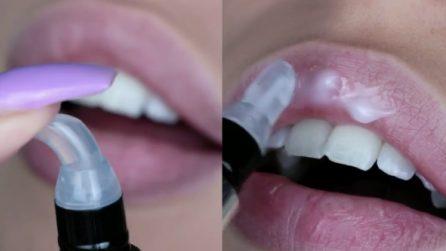 Applica il prodotto sulle labbra: il risultato dopo 5 minuti
