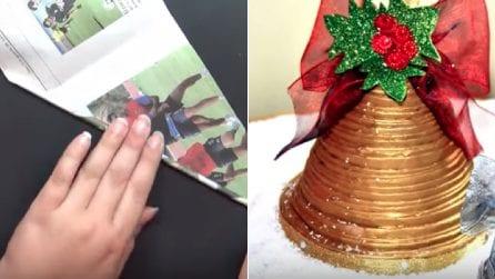 Come realizzare una campana natalizia fai da te: un riciclo semplice e creativo