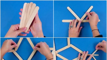 How to make a snowflake with wooden sticks