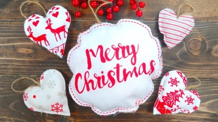 How to make Christmas decorations with a cloth
