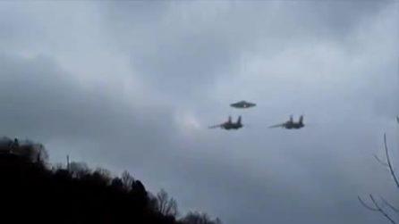 Disco volante inseguito da Jet militari