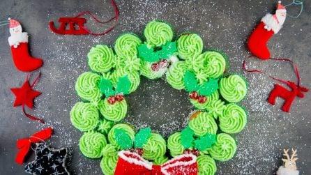 Ghirlanda di cupcakes: l'idea natalizia che non vedrete l'ora di provare!